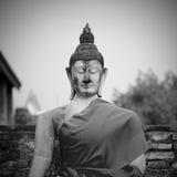 Buddha statue in Wat Yai Chai Mongkol- Ayutthaya, Thailand Stock Photography