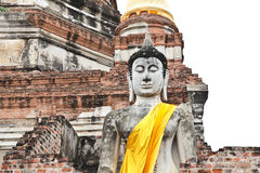 Buddha statue of Wat Yai Chai Mongkol in Ayutthaya Stock Image