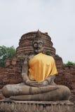 Buddha statue at Wat Yai Chai Mongkon. A Buddhist temple in Ayutthaya, Thailand Royalty Free Stock Images