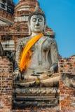 Buddha statue Wat Yai Chaimongkol Ayutthaya bangkok thailand Royalty Free Stock Images