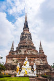 Buddha statue at Wat Yai Chaimongkon temple Stock Photo