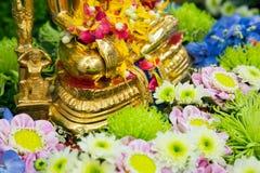 Songkran festival.Thai festival Songkran. Buddha statue water ceremony in songkran festival.Thai festival Songkran.selective focus Stock Images