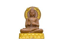 Buddha statue. On white background Stock Image