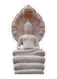 Buddha statue on white background. Stock Photos
