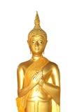 Buddha statue white background isolate Stock Photo