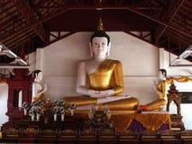 Buddha statue. White Buddha Buddhists believe that Buddha was represented and the highest veneration Royalty Free Stock Image