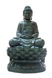 Buddha statue on white isolate Royalty Free Stock Photo