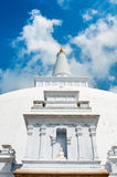 Buddha statue in white stupa Royalty Free Stock Photography