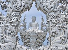 Buddha Statue in White Temple, Chiang Rai Stock Image