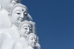 Buddha statue. White buddha statue in a temple, thailand Stock Photo