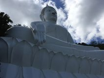 Buddha statue. White Buddha statue in Thailand Royalty Free Stock Photos