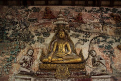 Buddha statue. The worship of the Buddhists. The mind peaceful Stock Photos