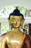 Buddha statue& x27; s twarzy zakończenie Zdjęcia Stock