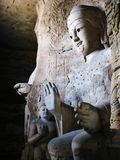 Buddha statue in Yungang Grottoes Stock Images
