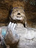 Buddha statue  in Yungang Grottoes Royalty Free Stock Photos