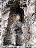Buddha statue in yungang grottoes Stock Photos