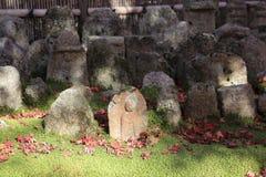 Buddha statue in a zen garden Of Adashino Nenbutsu-ji Stock Images