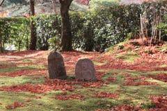 Buddha statue in a zen garden Of Adashino Nenbutsu-ji Stock Image