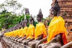 Buddha-Statuen in Ayutthaya Stockbilder