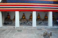 Buddha-Statuen bei Wat Pho Bangkok Stockbilder