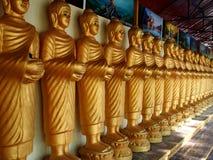 Buddha-Statuen in Folge stockbild