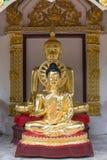 Buddha-Statuen, Gesicht des Goldes Buddha, Thailand, Asien Lizenzfreies Stockbild