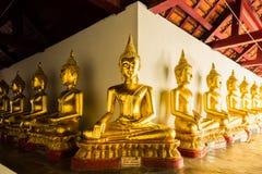Buddha-Statuen mit heller Seite und Schatten versehen in Thailand mit Seiten Lizenzfreies Stockfoto