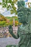 Buddha-Statuen in Tempel Adashino Nenbutsuji in Arashiyama, Kyoto Lizenzfreie Stockfotos