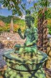 Buddha-Statuen in Tempel Adashino Nenbutsuji in Arashiyama, Kyoto Lizenzfreies Stockbild
