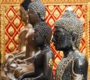 Buddha-Statuen in Wat Phrathat Doi Suthep Lizenzfreies Stockbild