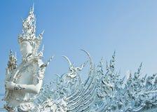 Buddha-Statuen in Wat Rong Khun Lizenzfreies Stockfoto