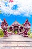 Buddha-Statueninnenkirche Stockfoto