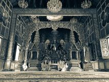 Buddha-Statuenleute zahlen Ehrerbietung zum Glauben am chaingmai, Thailand Lizenzfreies Stockbild