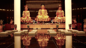 Buddha Statues. A photo taken off some buddha statues at a shrine Stock Photography