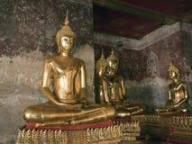 Buddha statues. Golden Buddha statues , Wat Suthat Bangkok Thailand Royalty Free Stock Photography