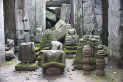 Buddha statues. Buddha statue at Siem Reap in Angkor Wat that were beheaded during the time of the Khmer Rouge, many of these statues are thousands of years old stock photo