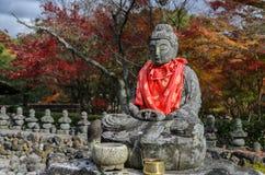Buddha statues in Adashino Nenbutsuji temple in Arashiyama, Kyot Royalty Free Stock Photography