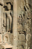 Buddha statues at Ajanta,cave temple complex,India Royalty Free Stock Photos