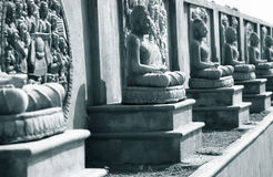 Buddha statues in Amaravati Royalty Free Stock Images