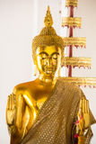 Buddha statues as a respected of Thailand.  Royalty Free Stock Images