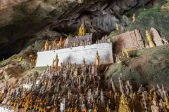 Free Buddha Statues At The Pak Ou Caves Royalty Free Stock Photography - 116118847