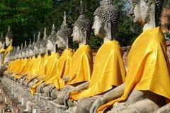 Buddha statues. In Ayuthaya Thailand royalty free stock photography