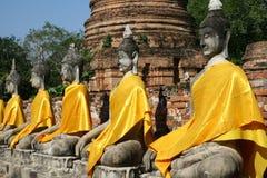 Buddha statues. In Ayuthaya Thailand royalty free stock image