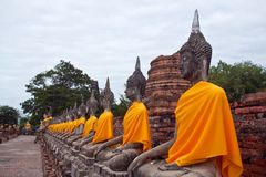 Buddha Statues in Ayutthaya, Thailand Royalty Free Stock Photo