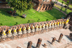 Buddha Statues Ayutthaya Thailand Royalty Free Stock Photography