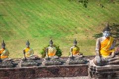 Buddha Statues Ayutthaya Thailand Royalty Free Stock Photos
