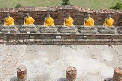 Buddha statues in Ayutthaya Royalty Free Stock Photography