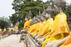 Buddha statues in Ayutthaya Stock Photos