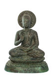 Buddha statues bless. Sculpture isolated on white with clipping path Stock Image