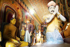 Buddha and statues Stock Images